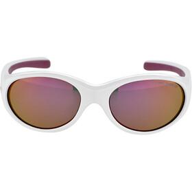 Alpina Flexxy Cykelbriller Piger, white-purple/pink mirror